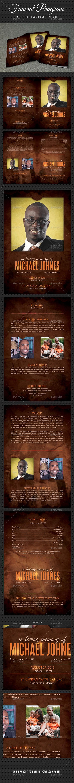 Funeral Program Brochure Template V01 - Informational Brochures