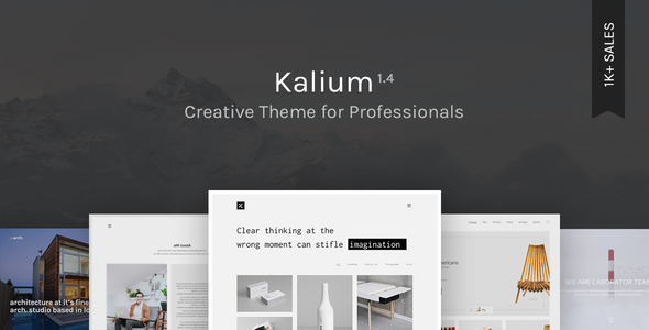 Kalium – Creative Theme for Professionals