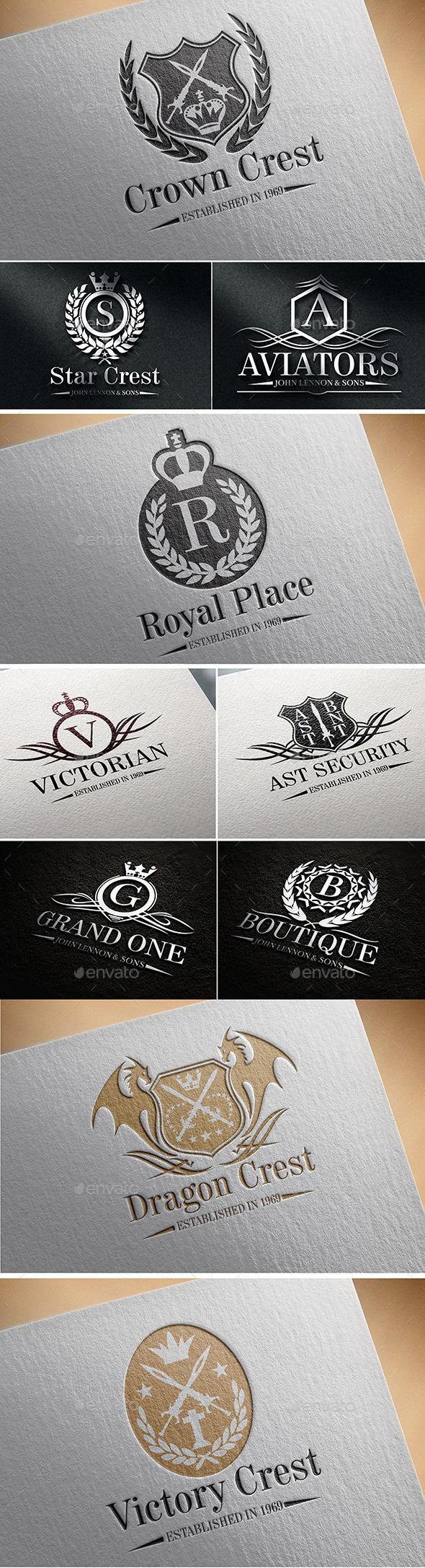 Heraldic Crest Logos Vol 4