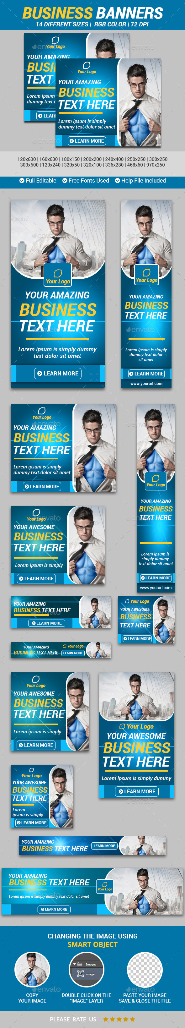 Business Banners v2 - Banners & Ads Web Elements