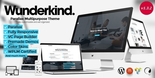 Wunderkind – One Page Parallax WordPress Theme