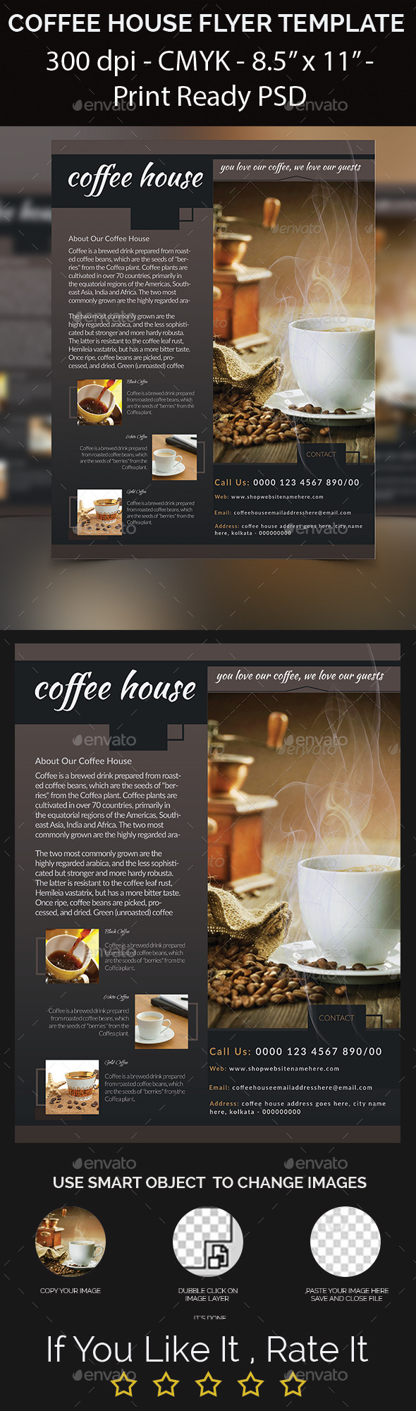 Coffee House Flyer Template - Corporate Flyers