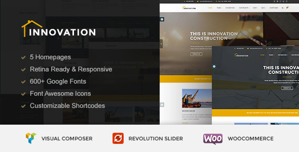 INNOVATION – Construction WordPress Theme