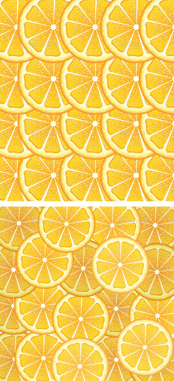 Orange Slices Background - Food Objects