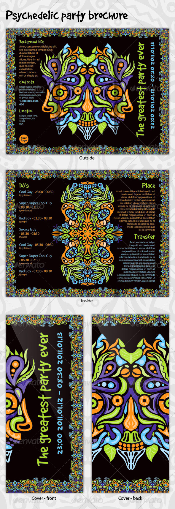 Psychedelic Party Brochure - Corporate Brochures