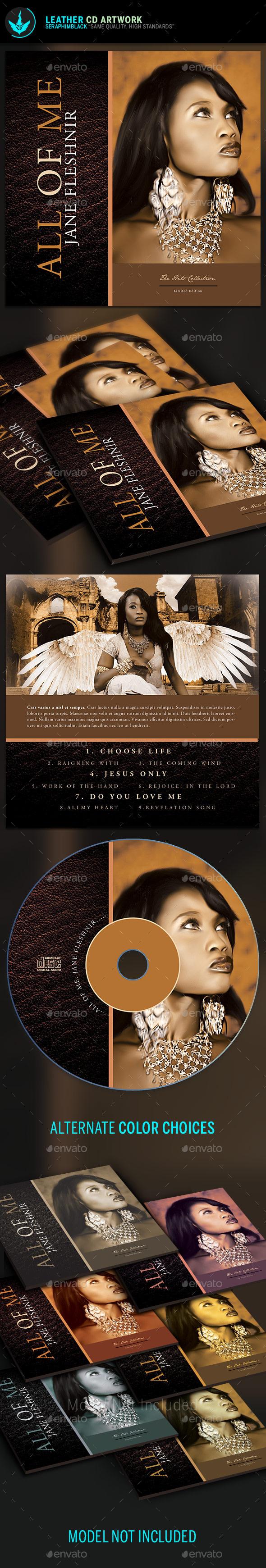 Leather CD Artwork Template - CD & DVD Artwork Print Templates