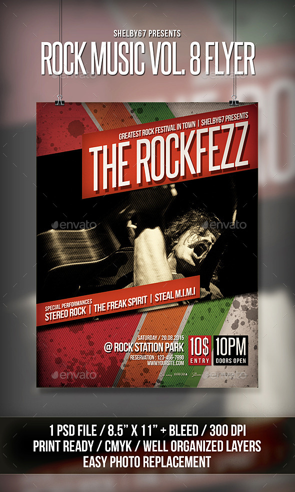 Rock Music Flyer / Poster Vol 8 - Events Flyers