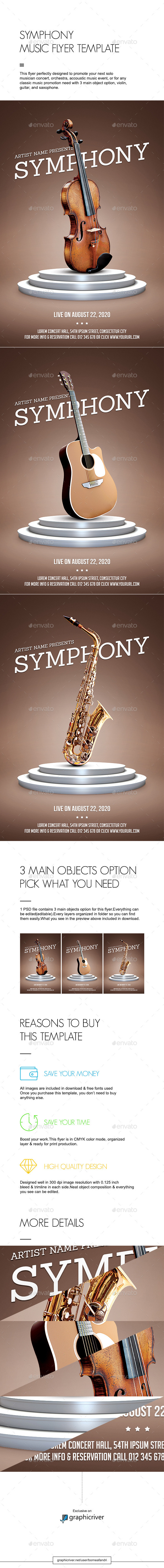 Symphony Music Flyer Template - Concerts Events