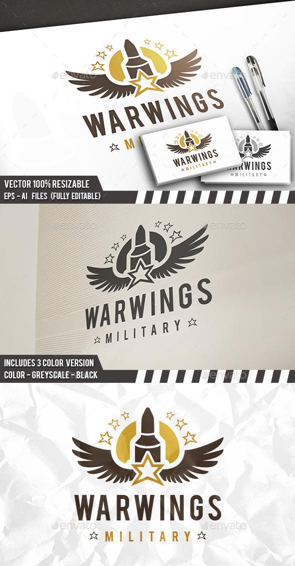 War Wings Logo - Objects Logo Templates