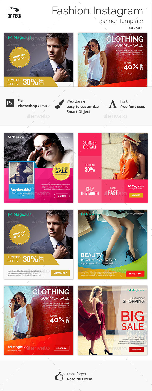 Fashion Instagram Banner - Banners & Ads Web Elements