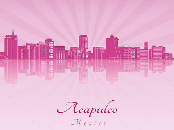 Acapulco Skyline in Purple Radiant Orchid
