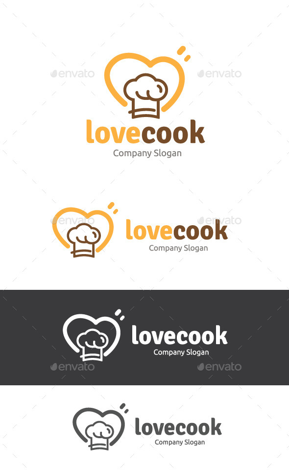 Love Cook - Food Logo Templates