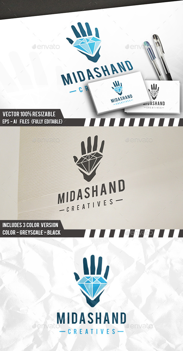 Wealth Hand Logo - Objects Logo Templates