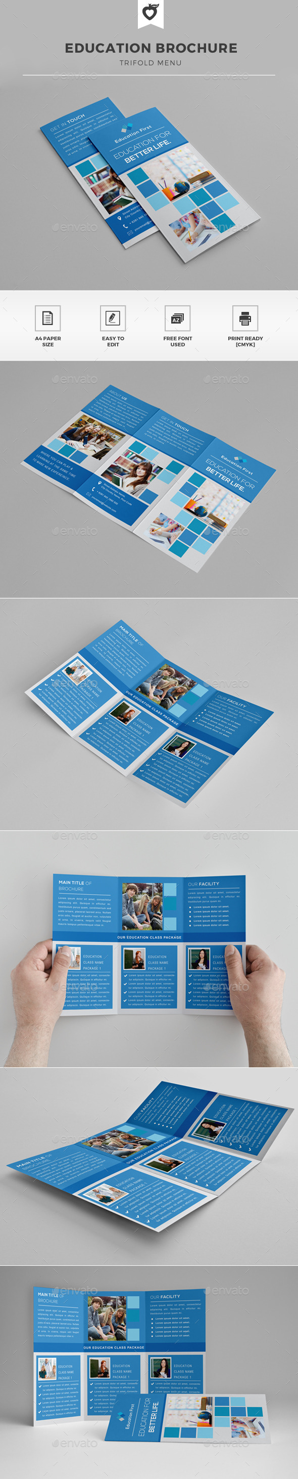 Education Trifold Brochure - Corporate Brochures