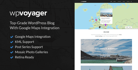 WPVoyager – Travel Blog WordPress Theme