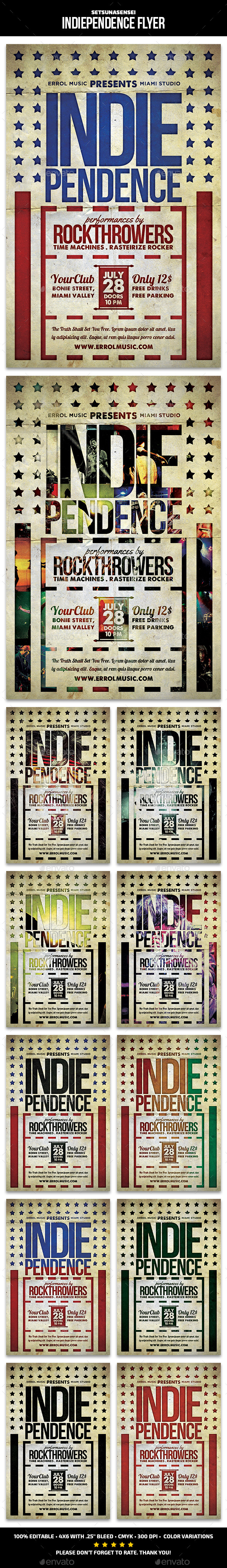 Indiependence Flyer - Concerts Events