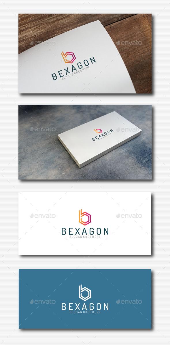 B Letter Hexagon Logo  - Letters Logo Templates