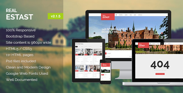 RealEstast – Real Estate HTML Template