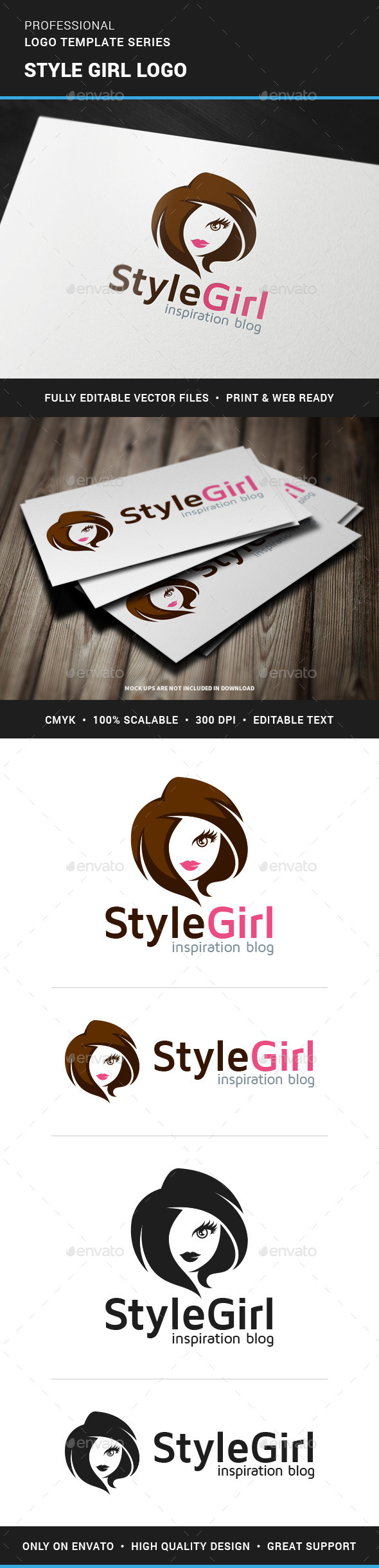 Style Girl Logo Template