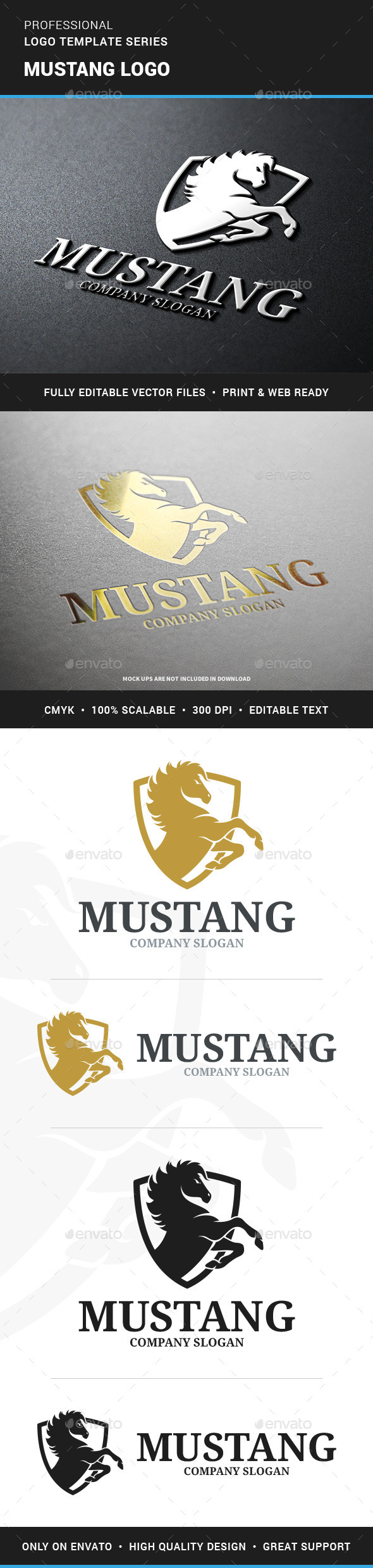 Mustang Logo Template - Animals Logo Templates
