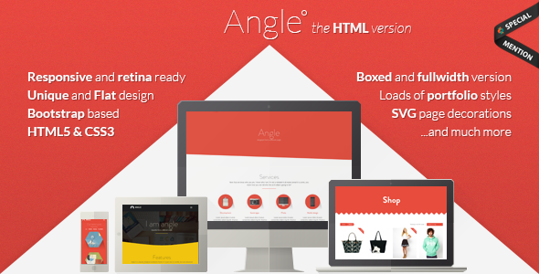 Angle – Flat Responsive Bootstrap Template