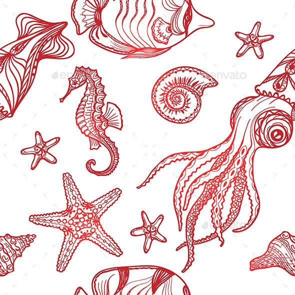 Underwater Life Pattern - Patterns Decorative
