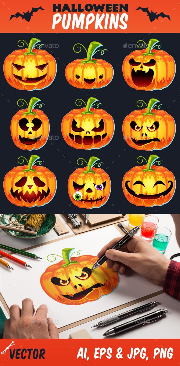 Halloween Pumpkins Set - Halloween Seasons/Holidays