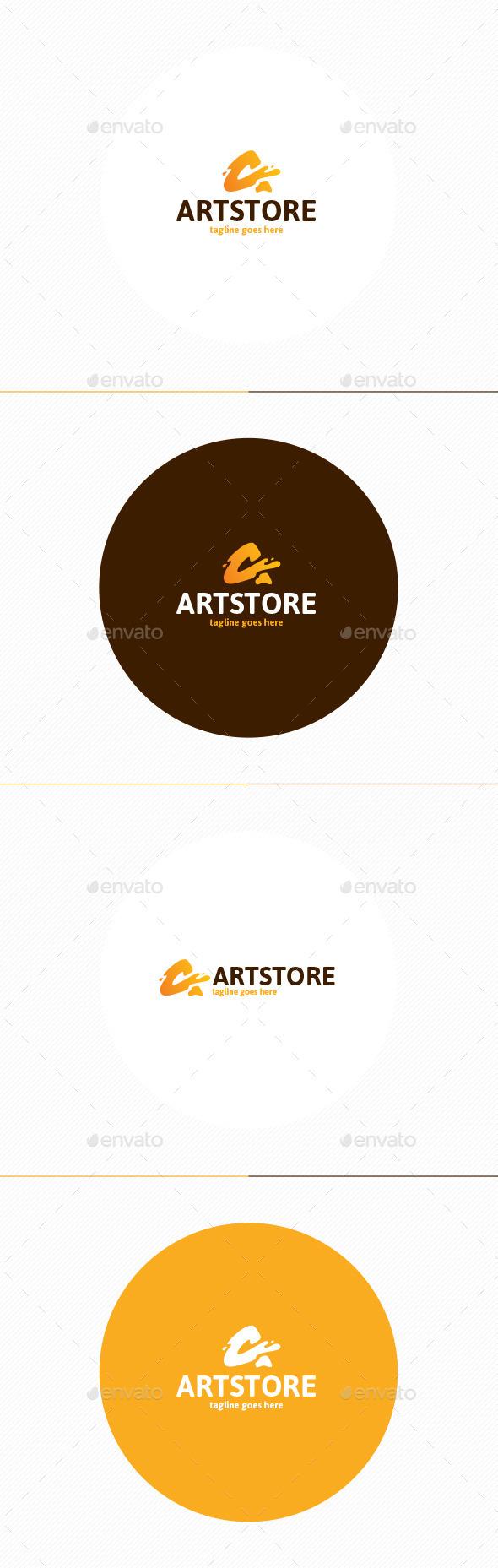 Art Store Logo • Letter A - Letters Logo Templates