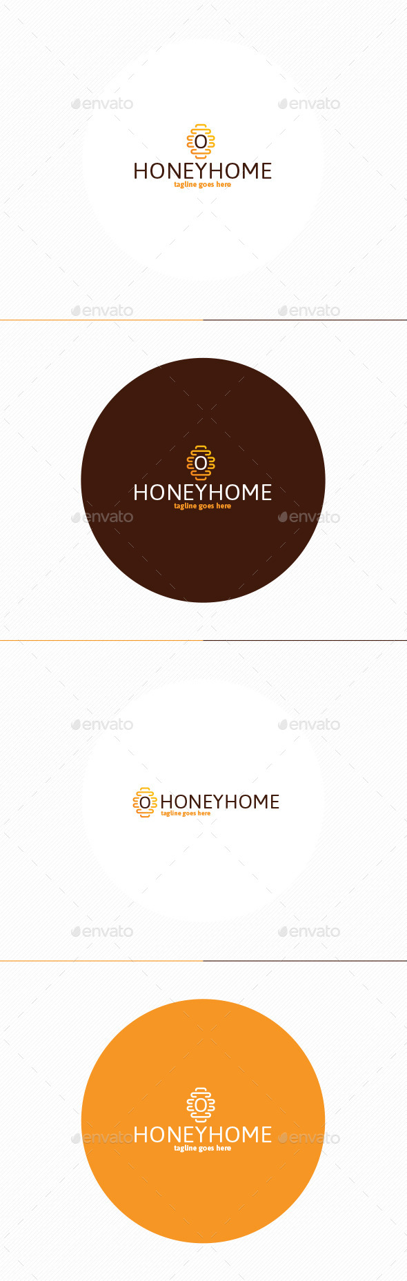 Honey Home Logo - Nature Logo Templates