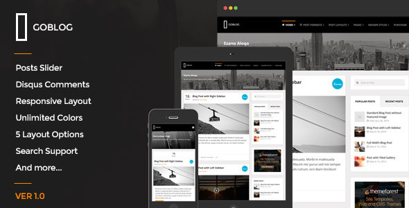 GoBlog – Responsive Ghost Blog Theme