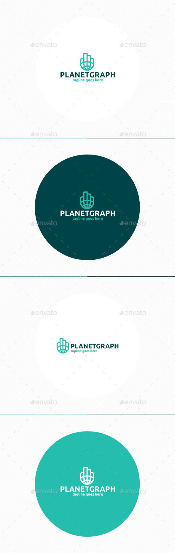 Planet Graph Logo - Symbols Logo Templates
