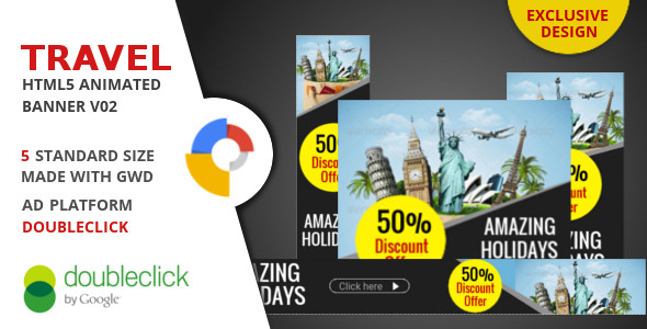 Travel - Google Html Animated Banner 02 - CodeCanyon Item for Sale