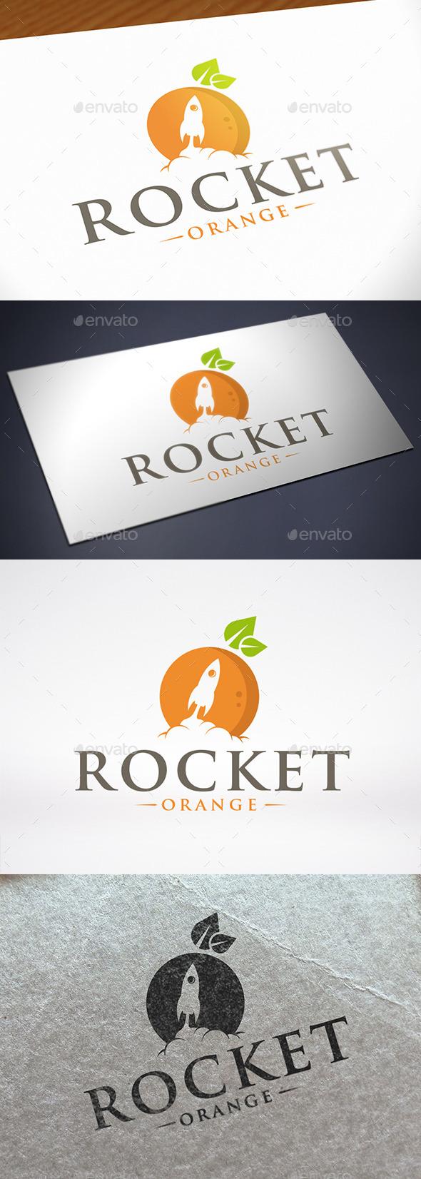 Orange Rocket Logo Template - Food Logo Templates