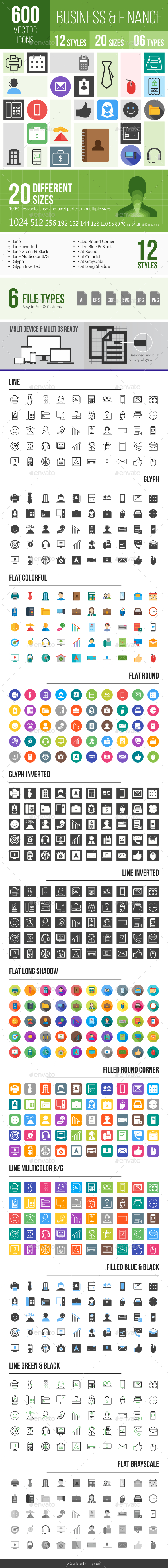 600 Business Icons - Icons