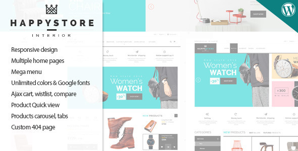 HappyStore – Responsive WordPress WooCommerce Theme