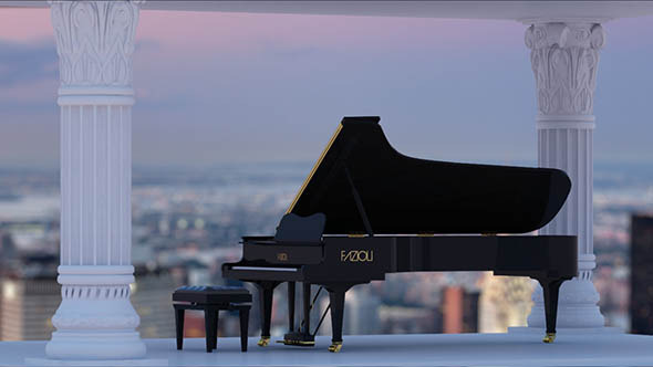 Concert Grand Piano - 3DOcean Item for Sale
