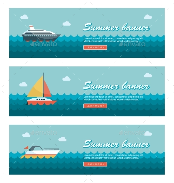 Travel and Vacation Banners - Travel Conceptual