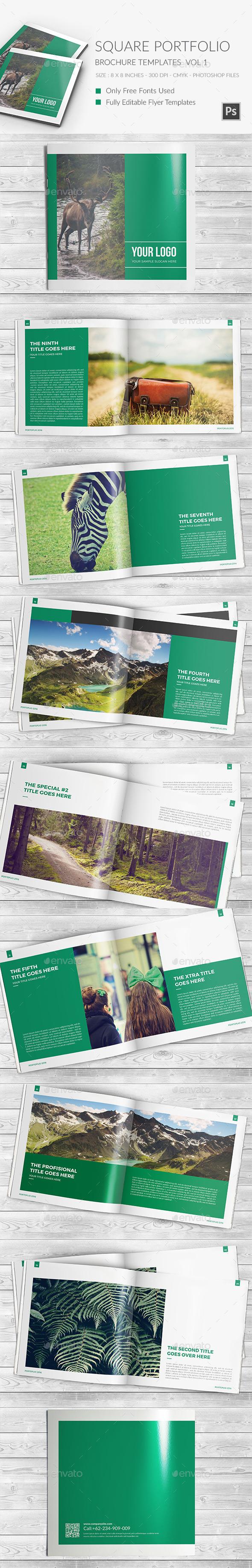 Square Portfolio Brochure Template 3