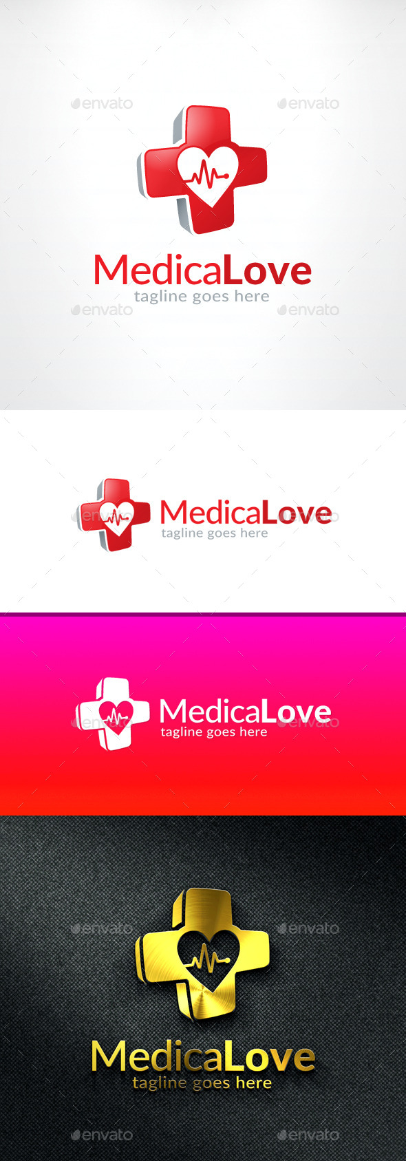 Medical Love Logo - Objects Logo Templates