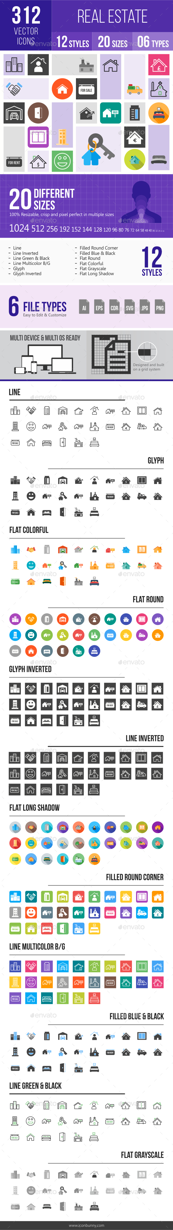 312 Real Estate Icons - Icons