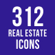 312 Real Estate Icons - GraphicRiver Item for Sale
