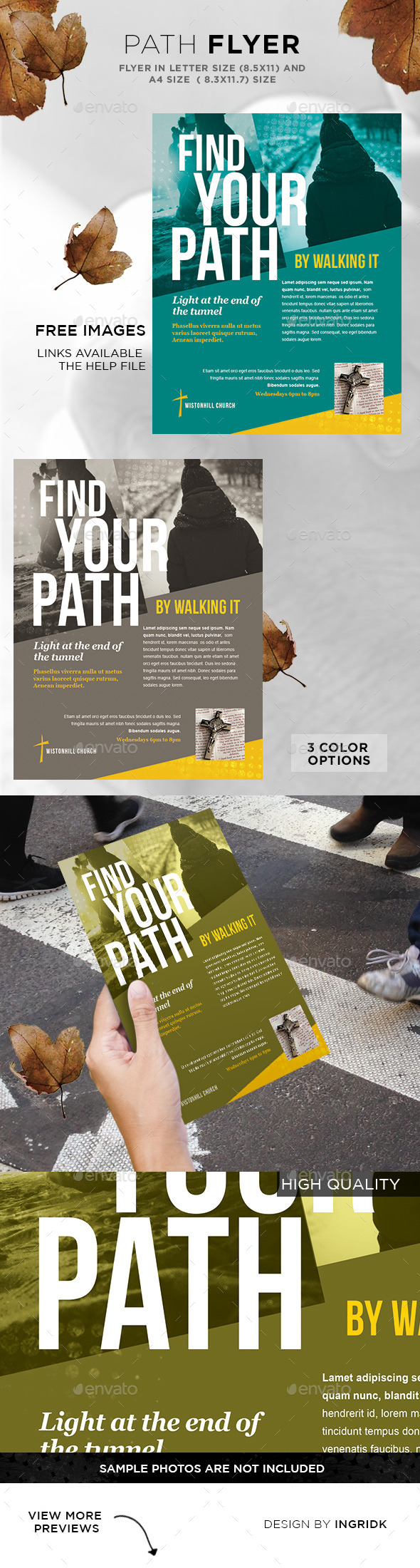 Flyer - Find your Path - Church Flyers
