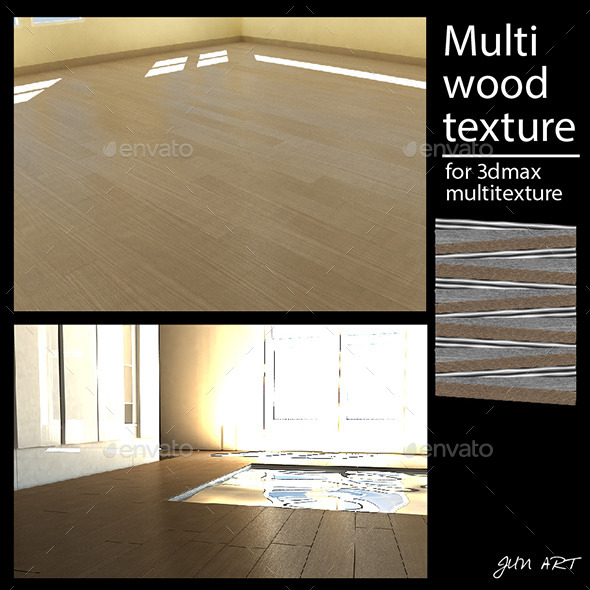 multi wood texture pack - 3DOcean Item for Sale