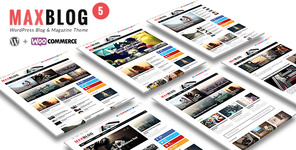 MaxBlog – Flat News Magazine Blog WP
