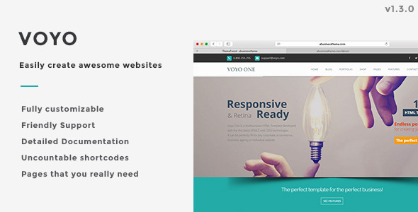 Voyo | Fully customizable Multipurpose Template