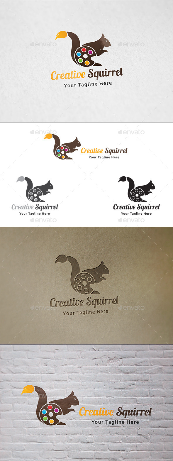 Creative Squirrel - Logo Template - Animals Logo Templates