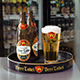 Realistic Beer Bottle, Tray and Glass Mockup - GraphicRiver Item for Sale