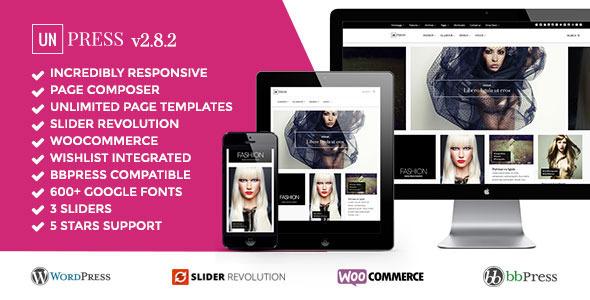 unPress Magazine – Elegant & Minimalistic – Woocommerce