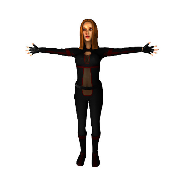 Black Widow inspired char lowpoly