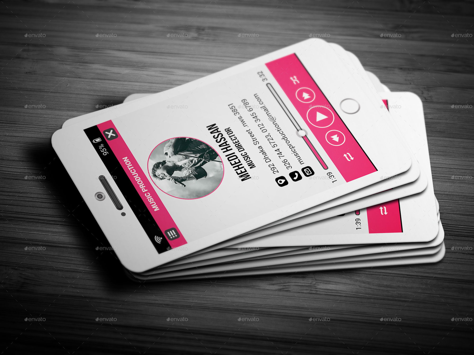 Phone music business card by mehedihassan graphicriver phone music business card business cards print templates 1screenshotg magicingreecefo Images